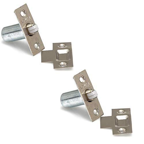XFORT® - Serratura a rullo regolabile, in cromo satinato, chiusura per porta quando non è richiesta la chiave, ideale per porte interne, armadi, credenze, mobiletti e guardaroba
