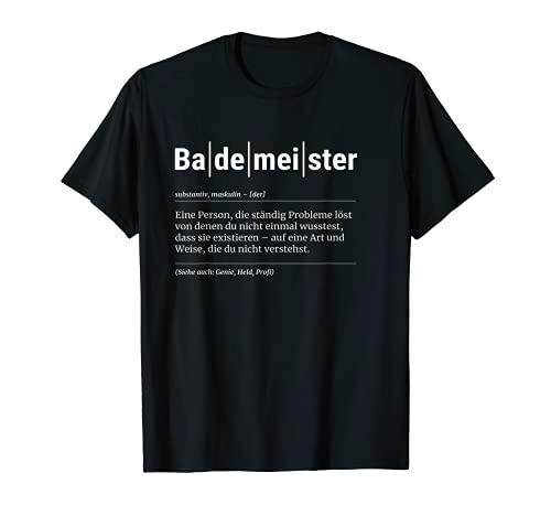 Bademeister T-Shirt Lustiges Geschenk Kollege