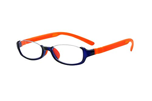 FLOAT READING フロート リーディング (老眼鏡) テンプル(腕)のカラーを選べる グッドデザイン賞受賞のオシャレな老眼鏡 鯖江企画 驚きの掛け心地 首にも掛けれる ブルーライトカット 超軽量 モデル:オーシャン (オーシャン + オレンジ,