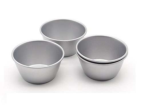 Astra shop Pack of 8 Individual Molds/Chocolate Molten Pans/Pudding Cups/Raspberry Souffle Pot Pie Darioles Ramekins/Brownies Tumblers Popovers/3-Inch Nonstick Egg Tart Bakeware