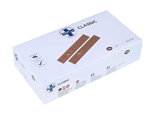 HierBeiDir Fingerpflaster/Fingerverband, wasserfest, hautfreundlich, hypoallergen, 100 Stück, 12x2 cm