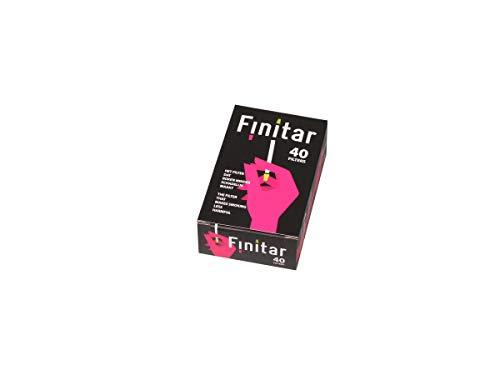 Finitar Premium Zigarettenfilter 40 Stck Pro Schachtel 12 Schachteln /480 Stck Hochwirksame Wiederverwendbare Mikrofilter Zigarettenspitze Reduziert Teer und Nikotin ohne Aroma zu verändern