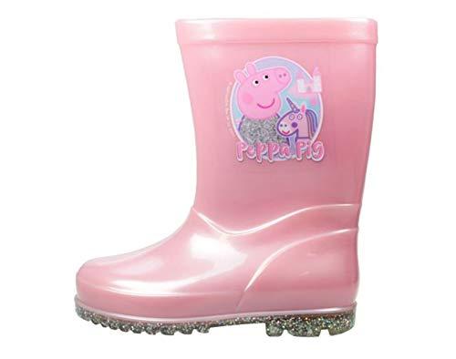 Peppa Pigs Chaussures de Wellington pour filles sous licence officielle Taille 36-42 - Rose - rose, 22 EU