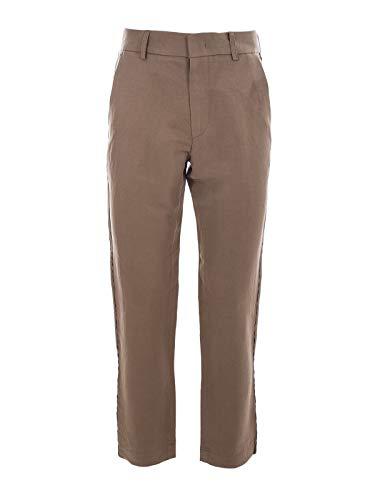 MAISON FLÂNEUR Men's 19Smupa300camel Brown Linen Pants