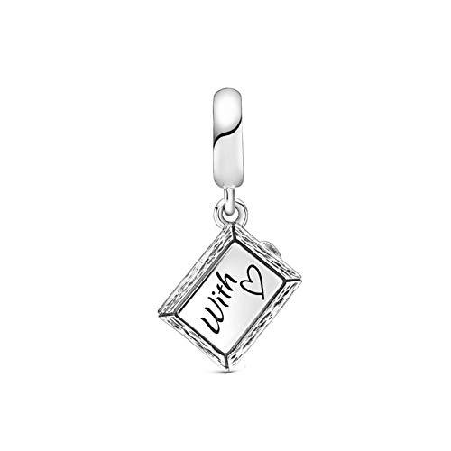 925 Silverpandorabeads Charm Dangle Sterling Silver Chalkle Dangle Charm Beads Se Adapta A Pulseras Originales Fabricación De Collares Moda Diy Jewelry Women