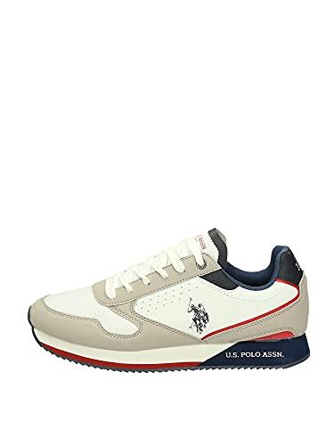 Scarpe U.S. Polo Sneaker Running Nobil 183 ecosuede White/Light Grey uomo US21UP01