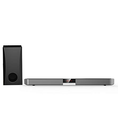 GJJSZ Soundbar, Bluetooth 2.0, 3.5AUX, USB, Zentrales Display, Desktop-Montage Zur Wandmontage