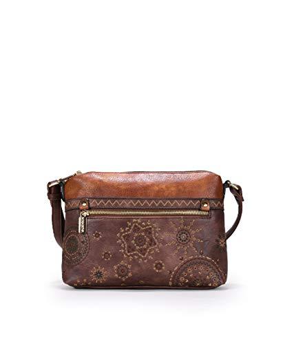 BOSANOVA Bolso marrón Doble Cremallera Marron U