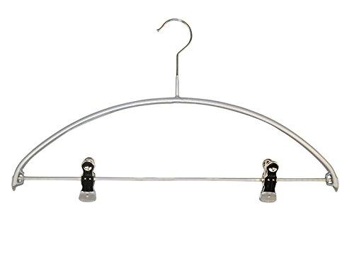 MAWA 0352015052 10 x Metall Kleiderbügel mit Clips, SKINfriedly anti-Rutsch Beschichtung 40 cm silber