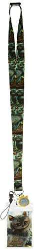 Disney Alice in Wonderland Cheshire Cat Lanyard with Soft Dangle & Card Holder Multi-colored, 3'
