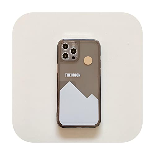 Ti'an Snow Mountain Moon - Carcasa para iPhone 12 Pro Max 11 X XS MAX XR 7 8 Plus 12mini suave TPU cubierta de nieve montaña luna
