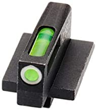 HiViz Litewave H3 Sight Tritium LitePipe Day/Night for Ruger GP100 with Spring Plunger Retained Front Sight.