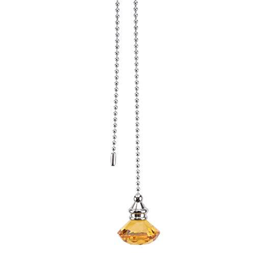 #N/A Zoomne Crystal Diamond Shape Lichtschnur Zuggriff Deckenfenster Hängende Kugelkette,Bernstein 1