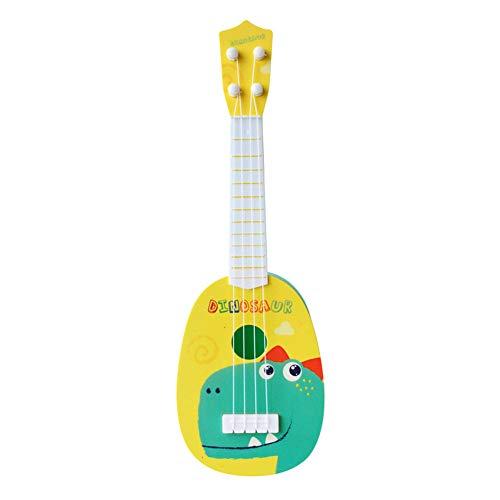 リトル ボーイズ ガールズ 誕生日 ギフト キッズ ミニ ギター ウクレレ 漫画 楽器 子供たち 教育 おもちゃをする (恐竜, 11.5cm * 36cm)