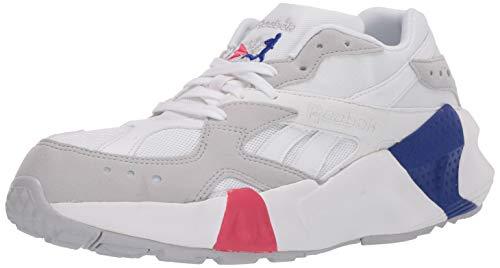 Reebok Aztrek Tenis para hombre, Blanco (Blanco/gris calavera/rosa torcida/azul.), 42 EU