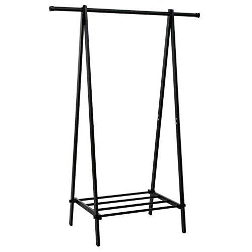 Cypress Shop Garment Rack Metal Clothing Hanger Heavy Duty Hanging Shelf Rack ShoeHolder Storage Entryway Hallway Organizer Shelving Unit Bedroom Dorm Home Furniture (1 Tier)