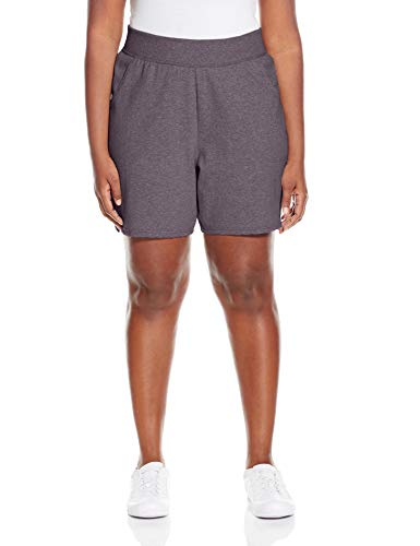 Just My Size Women's Plus Cotton Jersey Pull-On Shorts - 3X Plus - Charcoal Heather
