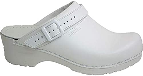 Sanita 811046 Modèle 38 Flex Clog Sabots avec sangle Blanc Taille 46