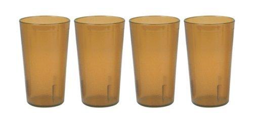 Capacità: 32 litri, ristoranti, impilabili Tumbler-Bicchieri per bibite, sensore infrangibile Commmerical plastica, Set da 4 pezzi, colore: ambra