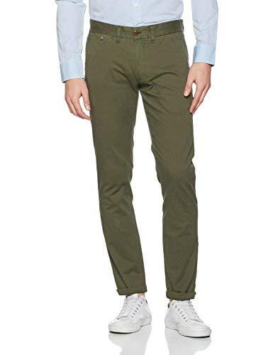 Tommy Jeans Hombre SLIM CHINO FERRY 1 BSTT PD-DM0DM00855 Pantalones, Verde (Olive Night 382), W34/L32