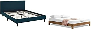 Modway Anya Full Fabric Bed in Azure with Modway Aveline 6