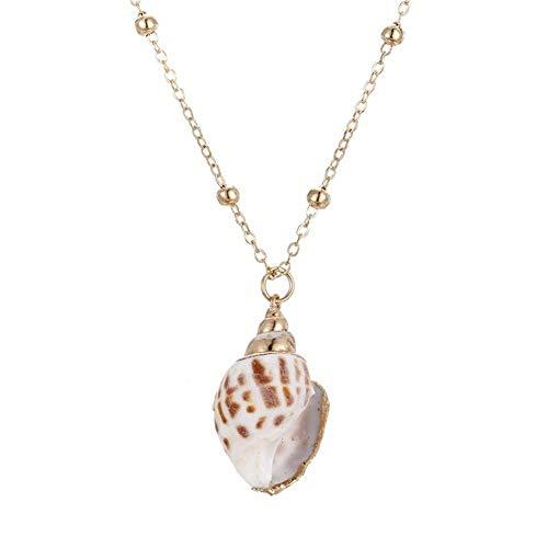 Joyería del Encanto de Las Mujeres de Boho Natural de Shell Concha Colgante Collar Femenino clavícula Gargantilla Chica Creativo Regalo de los Accesorios del Estudiante