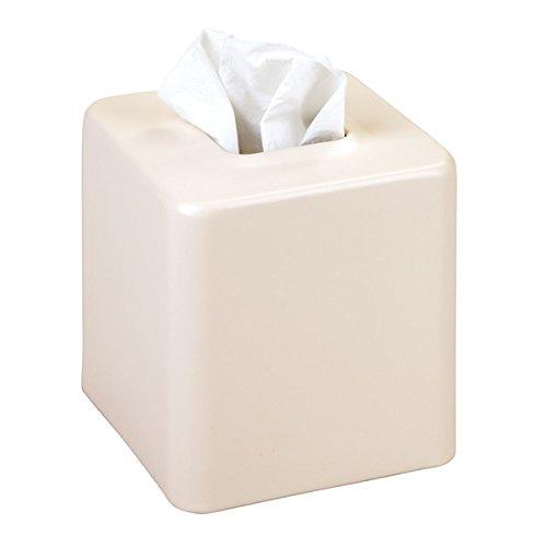 mDesign Kosmetiktücherbox quadratisch - Papiertücherbox für Hygienepapier im Bad - Box für Kosmetiktücher im modernen Look - mattes Beige