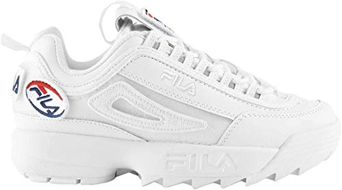 Fila Damen Sneaker Disruptor II Patches Sneakers, White, 38 EU