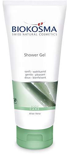 Biokosma Shower Gel BIO-Aloe Vera / sanftes Duschgel für den Körper / Feuchtigkeitsspendende Pflegedusche für schöne Haut / 1x 200ml