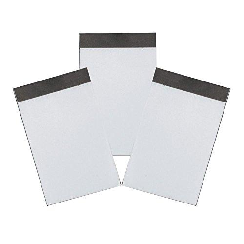 Alassio 1009-3 - 3 Ersatzblöcke im DIN A8 für Notizblocketui, Blöcke mit je 50 Blatt, Block Größe ca. 9 x 5,5 cm, blanko