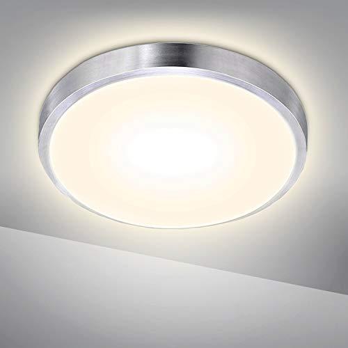 Hengda LED Deckenleuchte 15W Deckenlampe IP44 Badezimmer Warmweiss 1200LM Rund Badlampe Innen Modern Wohnzimmerlampe für Bad, Flur, Küche, Balkon, Schlafzimmer