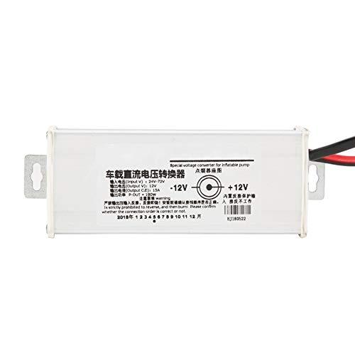 Convertidor de corriente para automóvil Cargador electromóvil Enchufe 15A 180W 24V-72V-12V para adaptador de corriente para automóvil