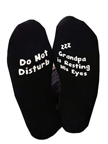Do Not Disturb Grandpa Is Resting His Eyes Papa Socks NON SLIP Father's Day...