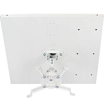 VIVO Universal White Adjustable 2 x 2 feet Drop Ceiling Projector Mount | Suspended Drop-in Ceiling Projection Mounting Kit (MOUNT-VP07DP)