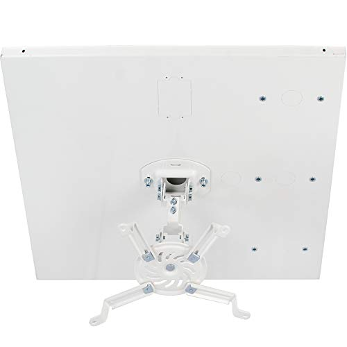 VIVO Universal Adjustable 2 x 2 feet Drop Ceiling Projector Mount, Suspended Drop-in Ceiling Projection Mounting Kit, White, MOUNT-VP07DP