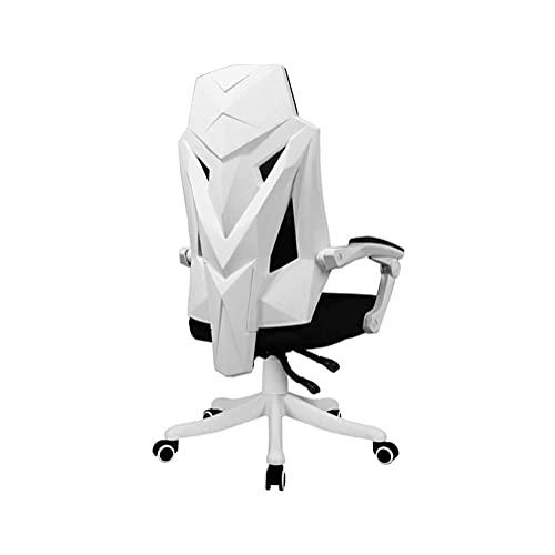 XUERUIGANG Gaming Chair Bürostuhl mit Fußablage, High Back Computer-Spiel-Stuhl, Racing Design Ergonomischer Stuhl PU. Leder Bürostuhl mit Kopfstütze und Massage Lordosenstütze (Farbe : B)