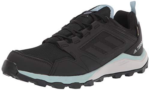 adidas outdoor Women's Terrex Agravic TR GTX W Running Shoe, Black/Black/ash Grey, 8.5 M US