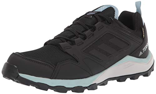 adidas outdoor Women's Terrex Agravic TR GTX W Running Shoe, Black/Black/ash Grey, 9 M US