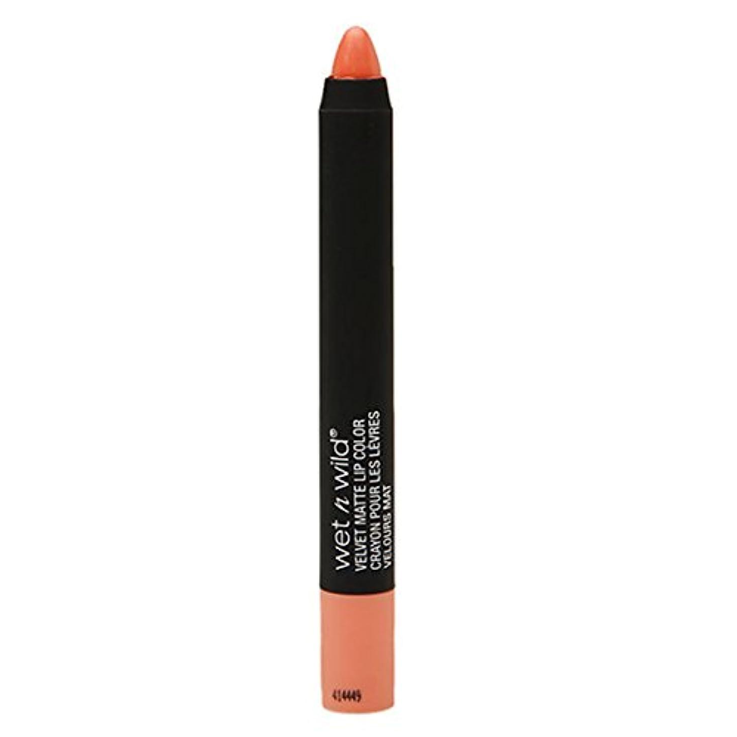 傷つきやすいマイク収束(6 Pack) WET N WILD Velvet Matte Lip Color - Shelly Shocked (並行輸入品)