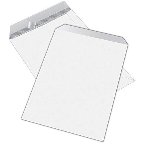Sobres tipo saco internografiados, formato 16 x 23, blancos, 500 sobres