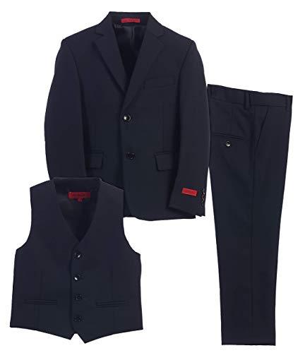 Gioberti Boy's Formal 3 Piece Suit Set, Navy, Size 8