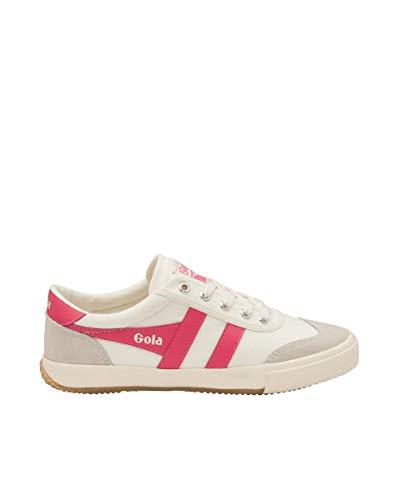 Gola Damen Badminton Sneaker, Off White Fluro Pink, 37 EU