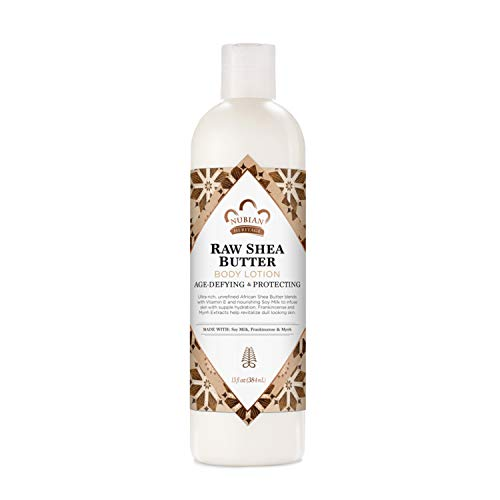 Nubian Heritage Body Lotion for Dry Skin Raw Shea Butter Paraben Free Body Lotion 13 Oz