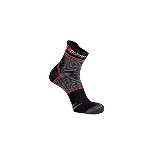 U-Power - Lot de 3 paires de chaussettes basses de travail anti-transpiration tissu Coolmax - SUNNY Black Carbon - SK103BC - U-Power