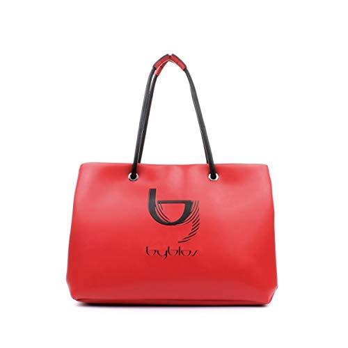 Byblos 2WB0070 EP9999 Victoria Tote Medium - Bolso para mujer con cremallera, piel sintética, color rojo