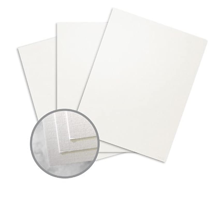 CLASSIC Linen White Pearl Card Stock - 8 1/2 x 11 in 84 lb Cover Linen C/2S 250 per Package