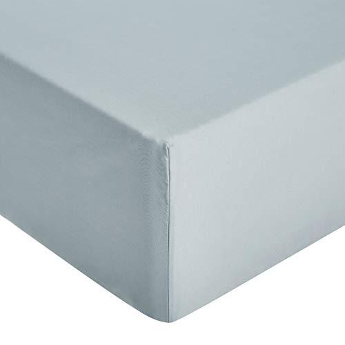 Amazon Basics - Sábana ajustable de microfibra premium (90 x 200 cm), azul spa