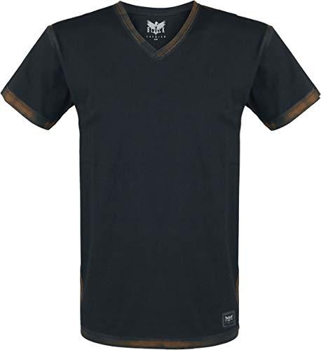 Black Premium by EMP Heavy Soul Homme T-Shirt Manches Courtes Noir XL