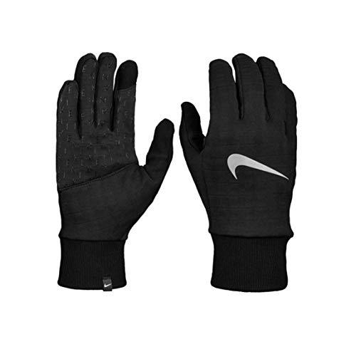 Nike Sphere Running Gloves - Guantes negro/plateado XL