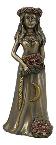 ShopForAllYou Figurines and Statues Celtic Wiccan Triple Goddess The Maiden with Waxing Crescent Moon Decor Statue